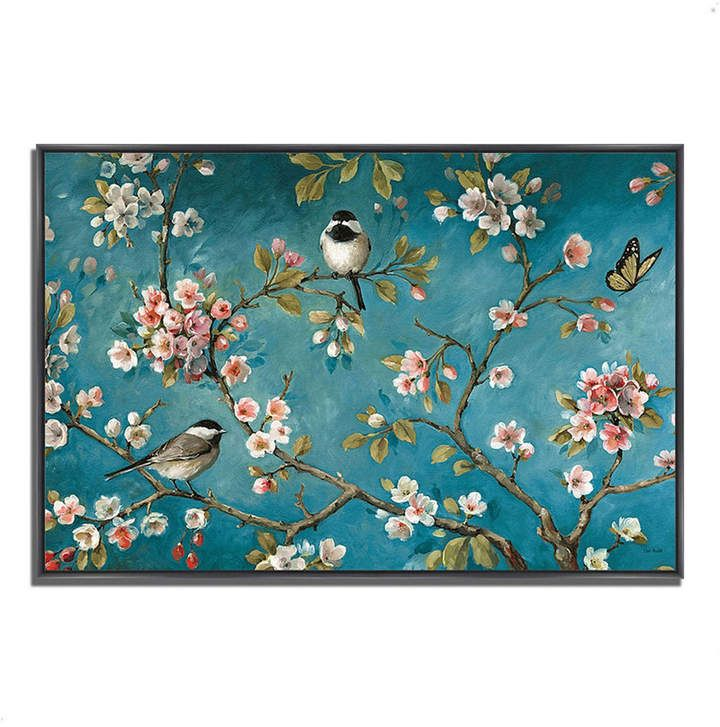 Blossom I by Lisa Audit Fine Art Giclee Print on Gallery Wrap Canvas, 47 x 32 #smallbirds