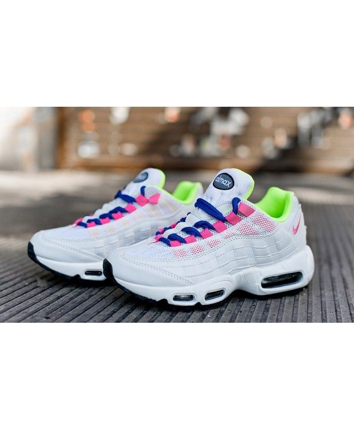 huge discount 2ea45 f4273 Pink White Green Nike Air Max 95 Trainers
