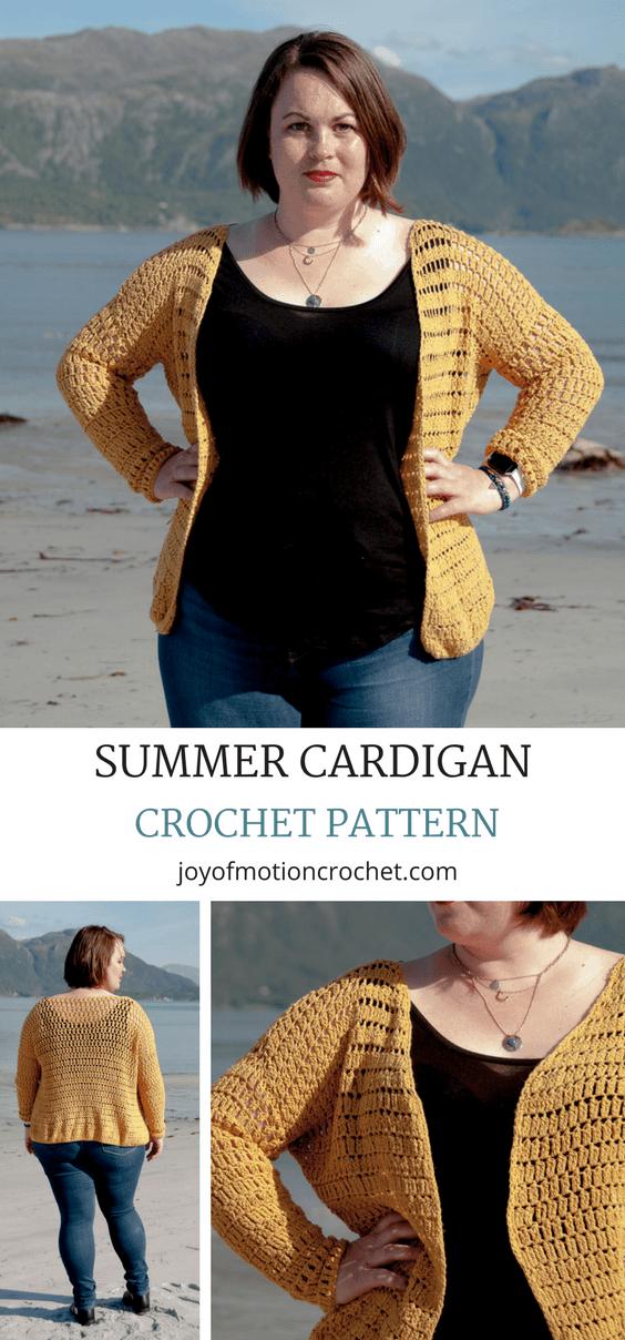 Summer Cardigan Crochet Pattern Crafts Pinterest Crochet