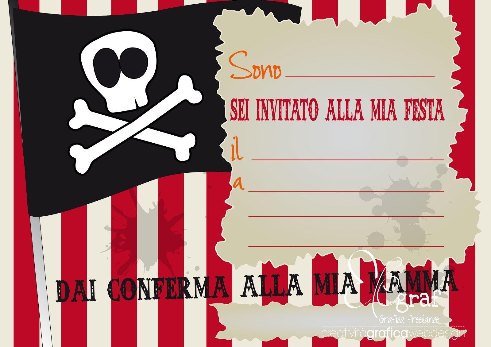 Elegraf Grafica Freelance Partykit Gratis Per Festa A Tema Pirati Feste Di Compleanno A Tema Pirata Festa A Tema Pirati Tema Pirata