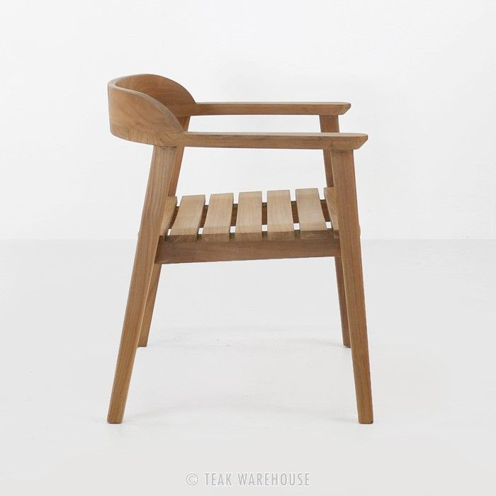 Neil Teak Outdoor Dining Chair Contemporary Outdoor Chairs Outdoor Furniture Chairs Teak Chairs