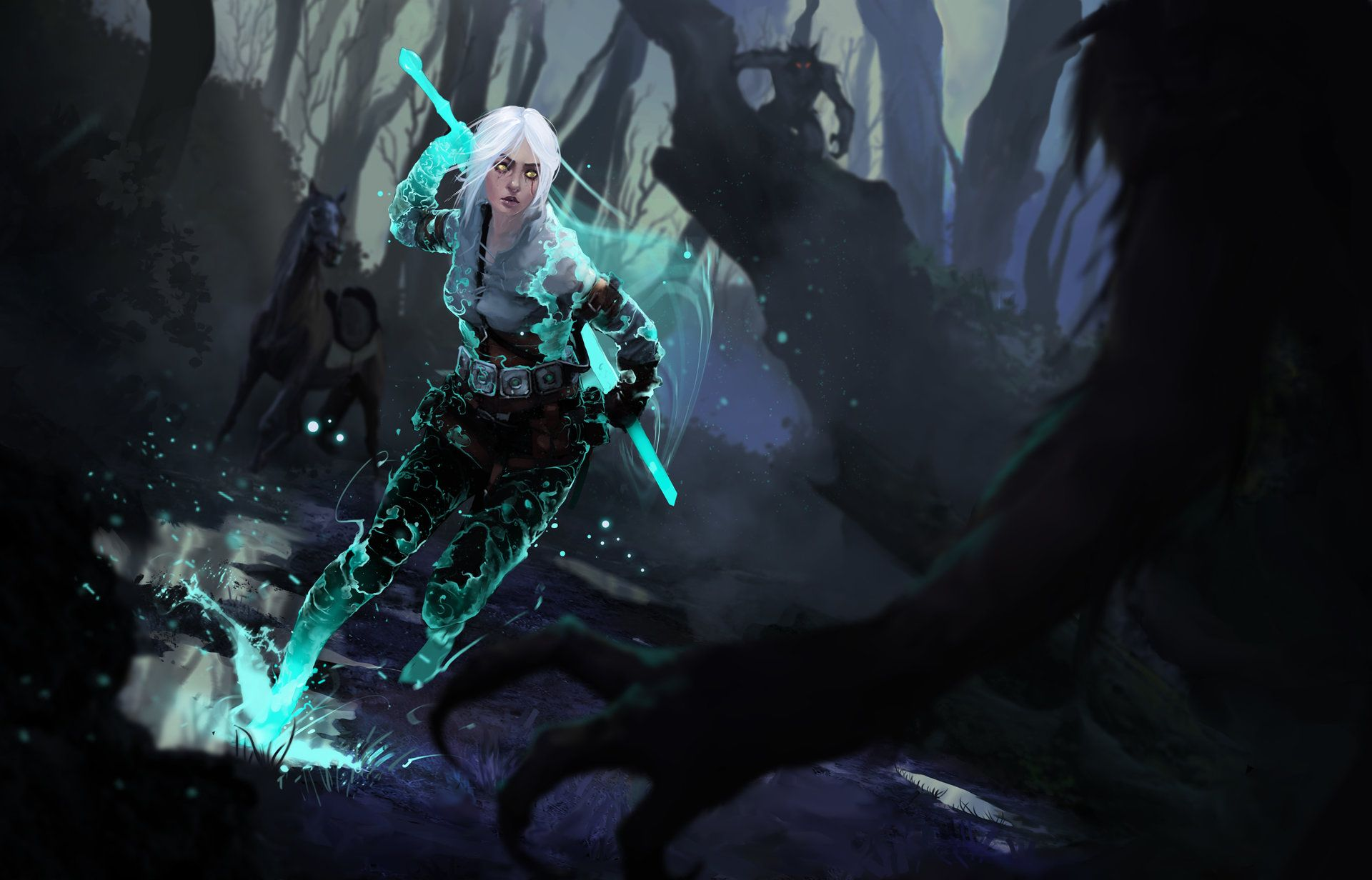 Ciri And The King Of Wolves Bogdan T On Artstation At Https Www