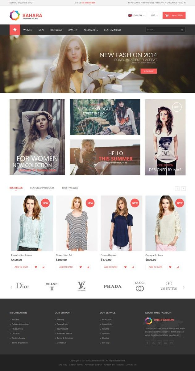 SAHARA - Fashion 8 - Ultimate Responsive Magento Themes