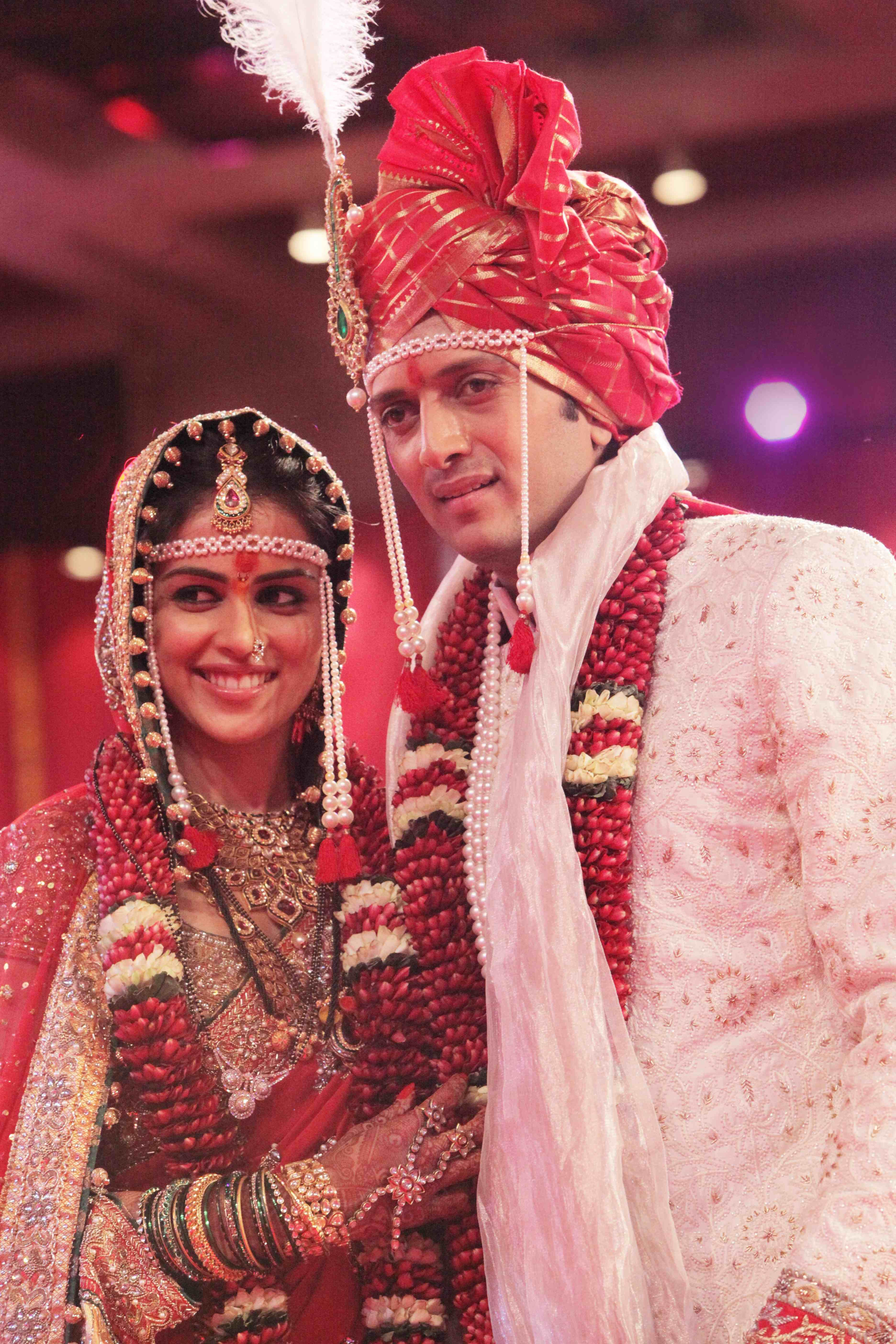 Just Married Ritesh Genelia Designer Indian Outfits