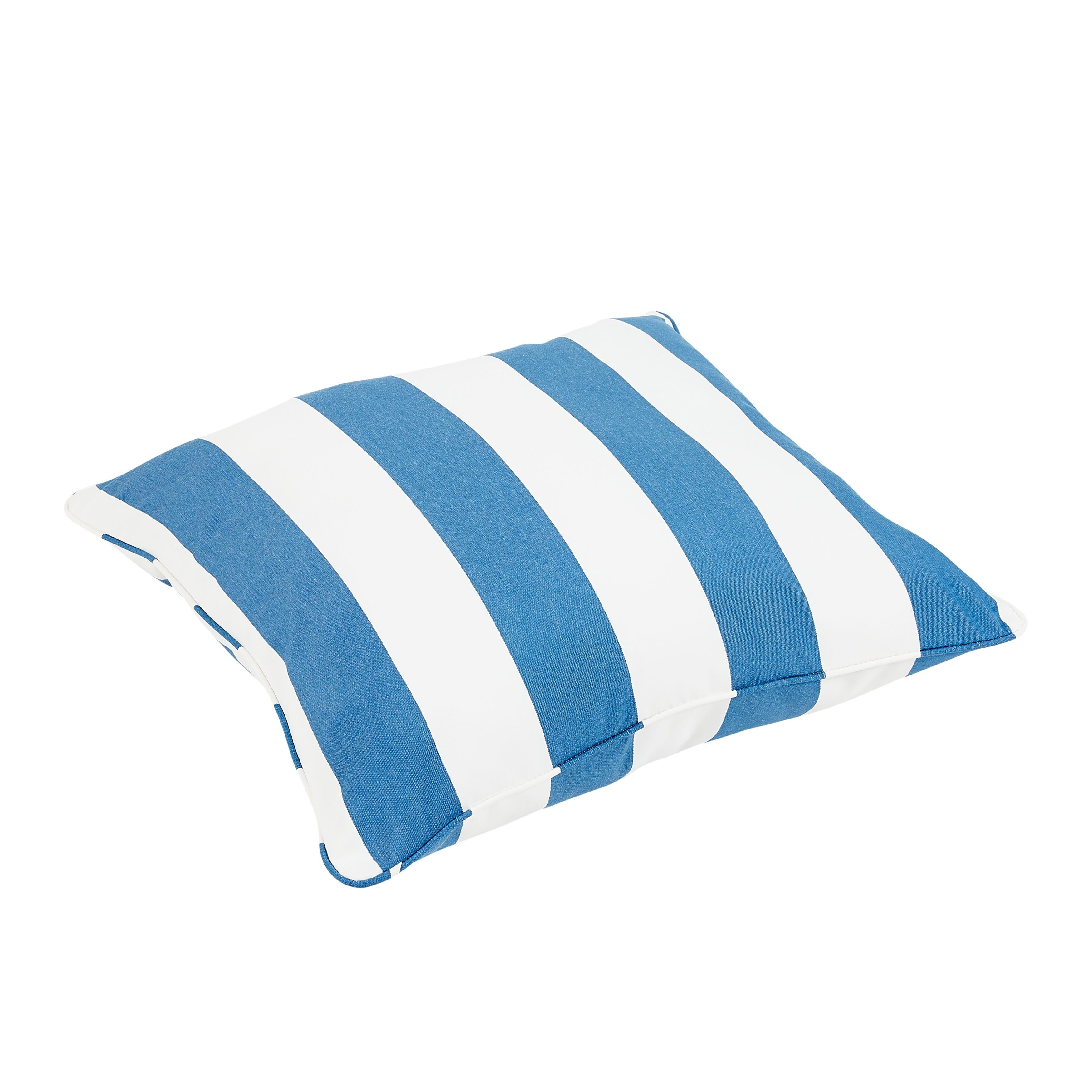 Duvall Sunbrella Cabana Regatta Indoor Outdoor 26 Inch Floor Corded Pillow Osps6287 Blue Acrylic Striped Cushion