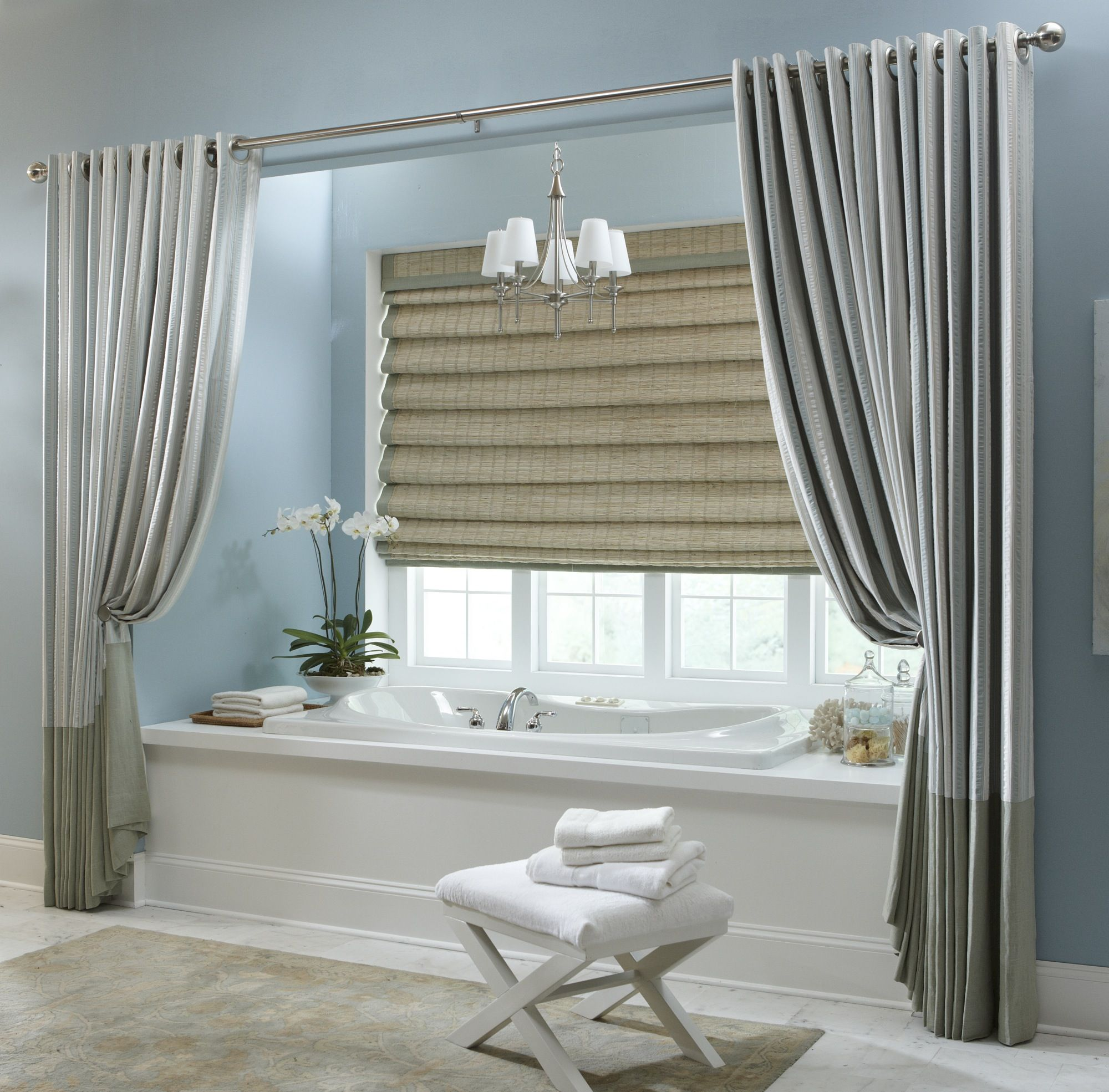 Add Some Privacy To Your In Home Spa With These Beautiful Draperies!  Courtesy Of