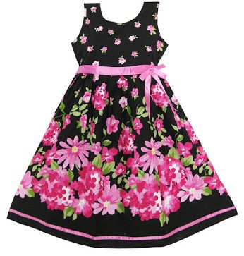 This adorable Girls Dress Hot Pink Flower Belt Party will surely be perfect for your little one.  Get it: www.teelieturner.com  #fashion