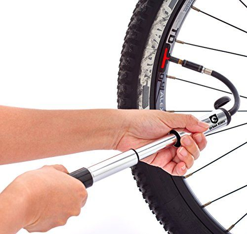 Bike Frame Mounted Pumps Portable Mini Bike Pump With Led Wheel