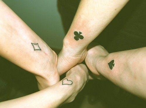Para 4 Amigos Tattoo Tatuajes Tatuaje Sisters Y Tatuaje