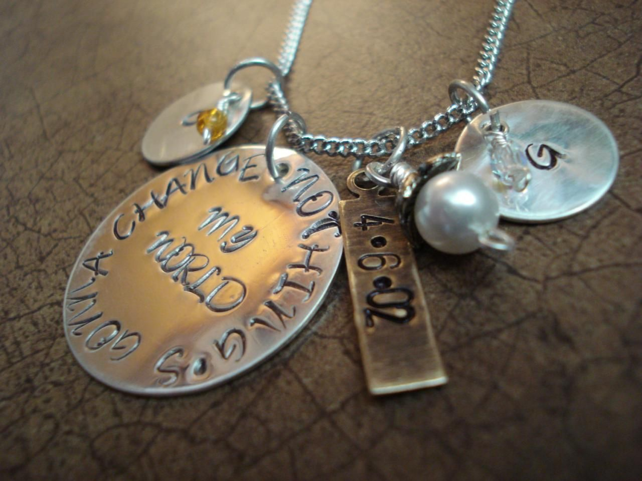faith hand stamped products img pendant necklace blessed