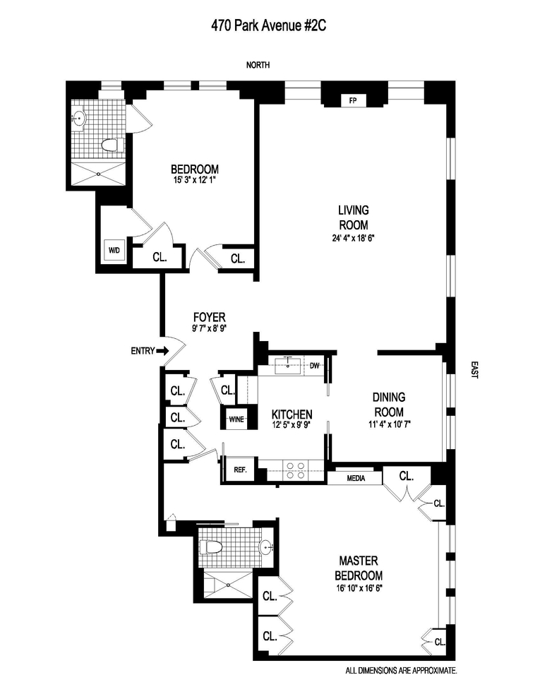 470 Park Avenue 2c New York Ny 10022 Sales Floorplans Property Records Realtyhop Floor Plans Apartment Floor Plans 1st Avenue