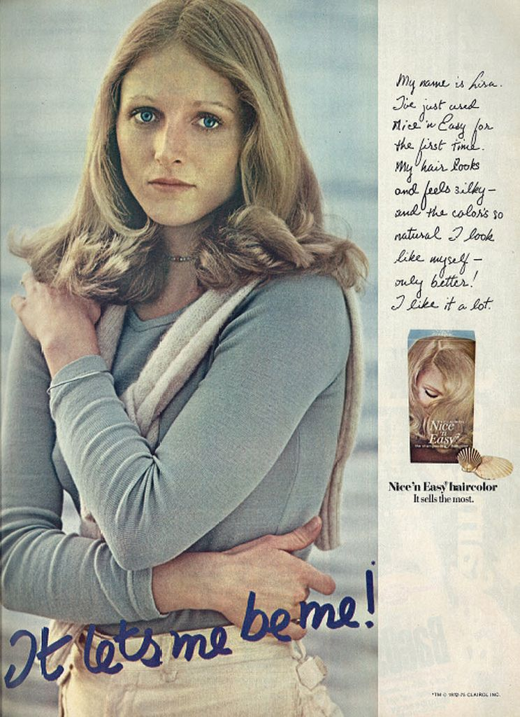 1975 Hair Care Ad Clairol S Nice N Easy Hair Color It Lets Me Be Me Nice N Easy Hair Color Clairol Hair Color
