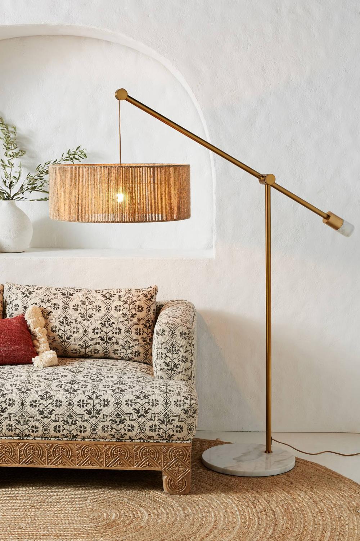 Topanga Jute Floor Lamp Anthropologie Floor Lamps Living Room
