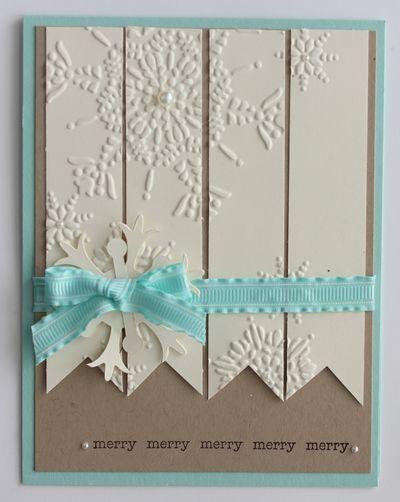 Simple Snowflake Embossed Cards Christmas Cards Handmade Snowflake Cards