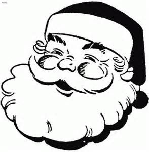 coloring page of smiling face of santa claus clipartclip art picture   bunny coloring