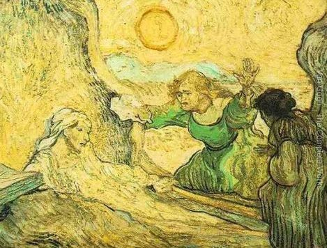 """The Raising of Lazarus (after Rembrandt)"" 