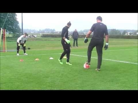 Goalkeeper Training 1vs1 Goalkeeper Block Gk Past Youtube Goalkeeper Training Goalkeeper Soccer Goalie
