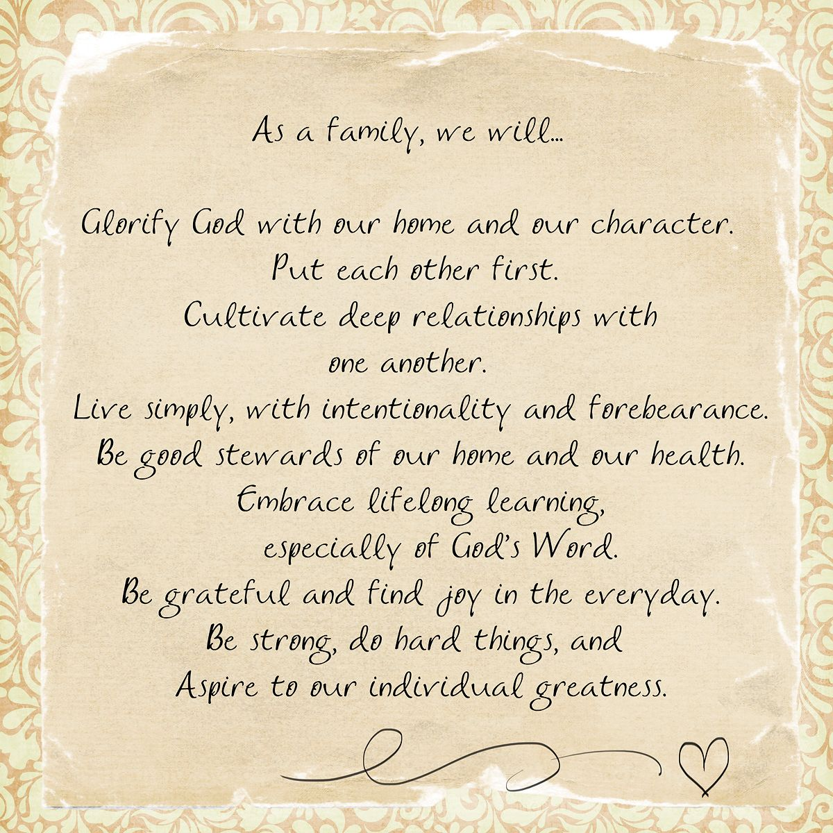 Our Mission Statement Family Mission Statements Mission