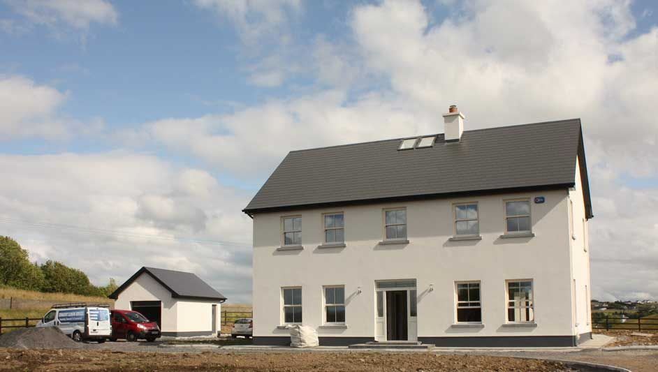2 Storey Courtyard Connected House In County Mayo Ireland House Plans Farmhouse Farmhouse House New House Plans