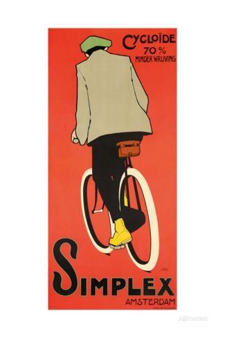 Simplex Amsterdam 1907 Giclee Print Daniel Hoeksema Allposters Com Bike Poster Vintage Advertisements Vintage Bicycles