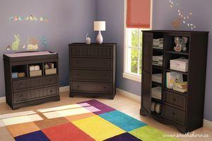 South Shore Savannah Baby Bedroom Set Espresso Walmart 559 Les 3