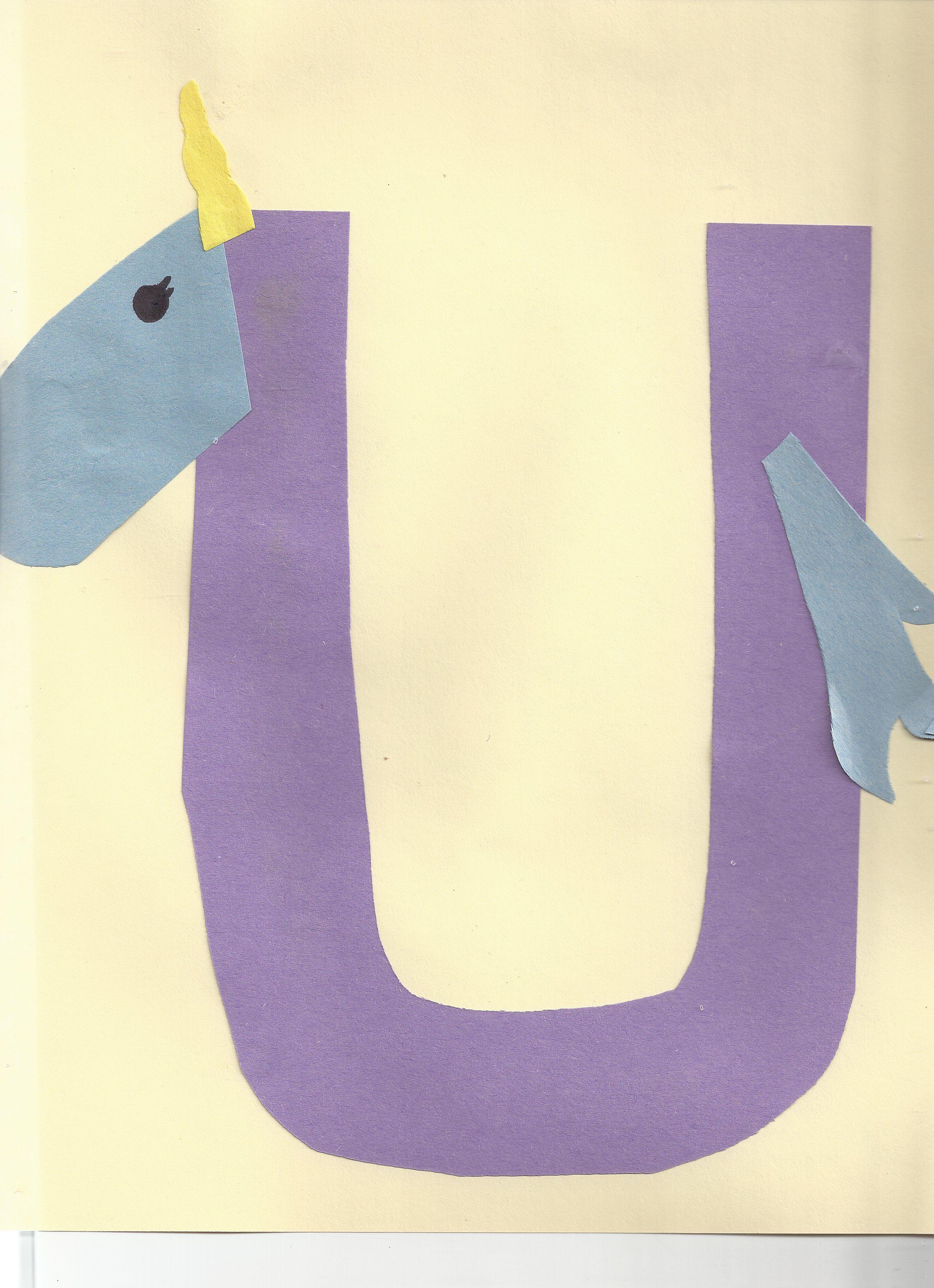 U Is For Unicorn Alphabet Craft