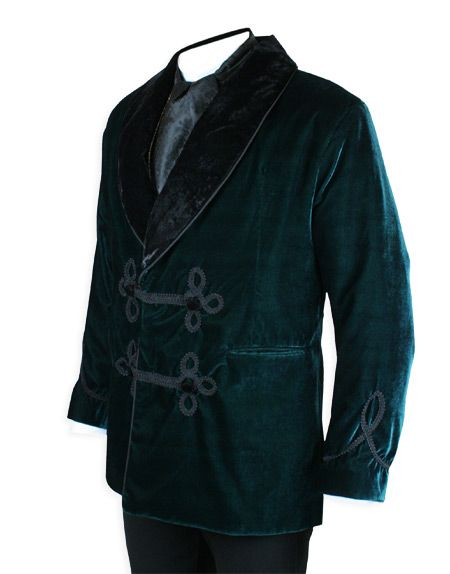 smoking jacket green - Google Search