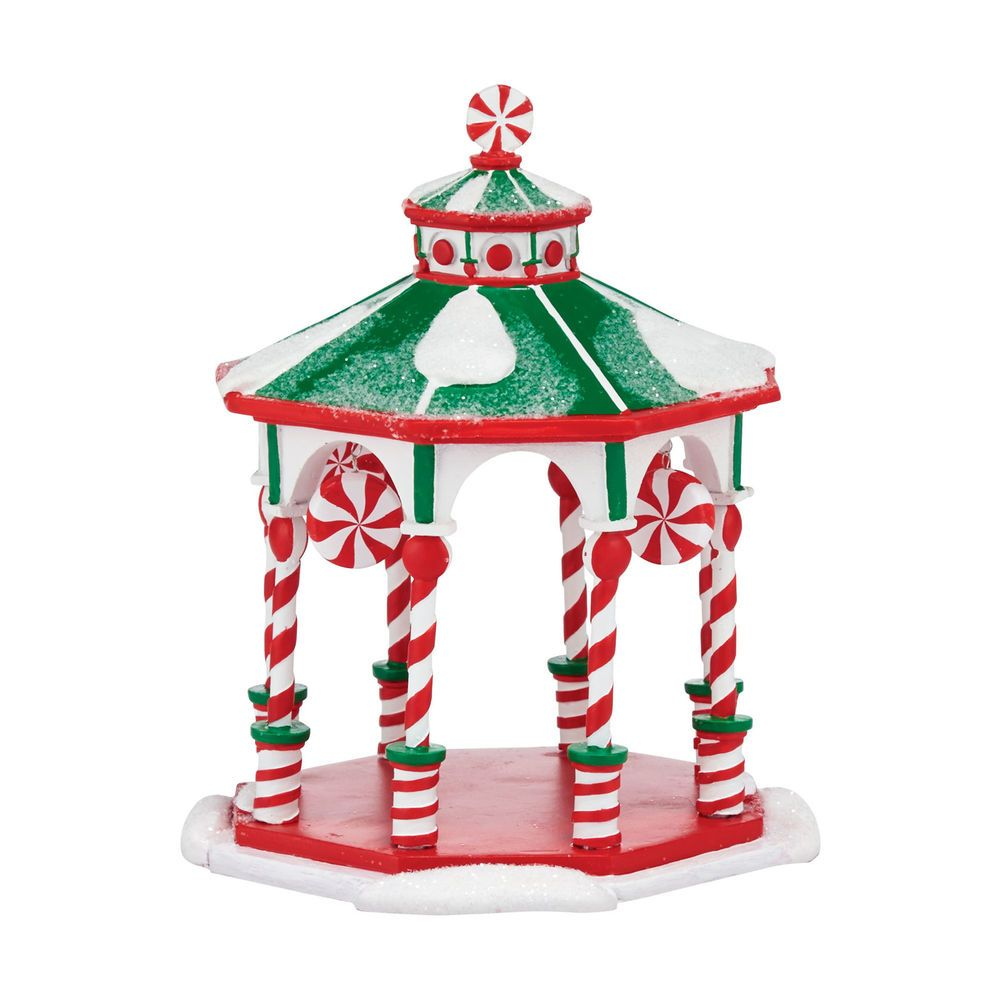 Details about Department 56 Peppermint Gazebo 4047579 NEW