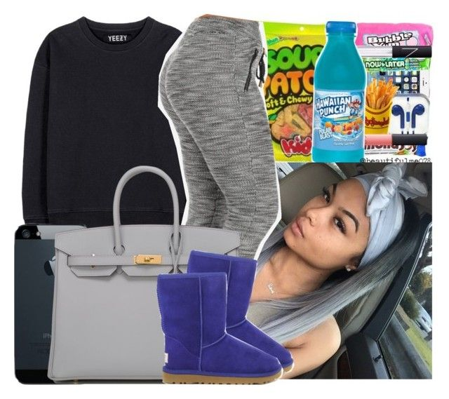 """""""What I wish I was wearing """" by naebreezy ❤ liked on Polyvore featuring adidas Originals, Hermès, UGG Australia, women's clothing, women, female, woman, misses and juniors"""