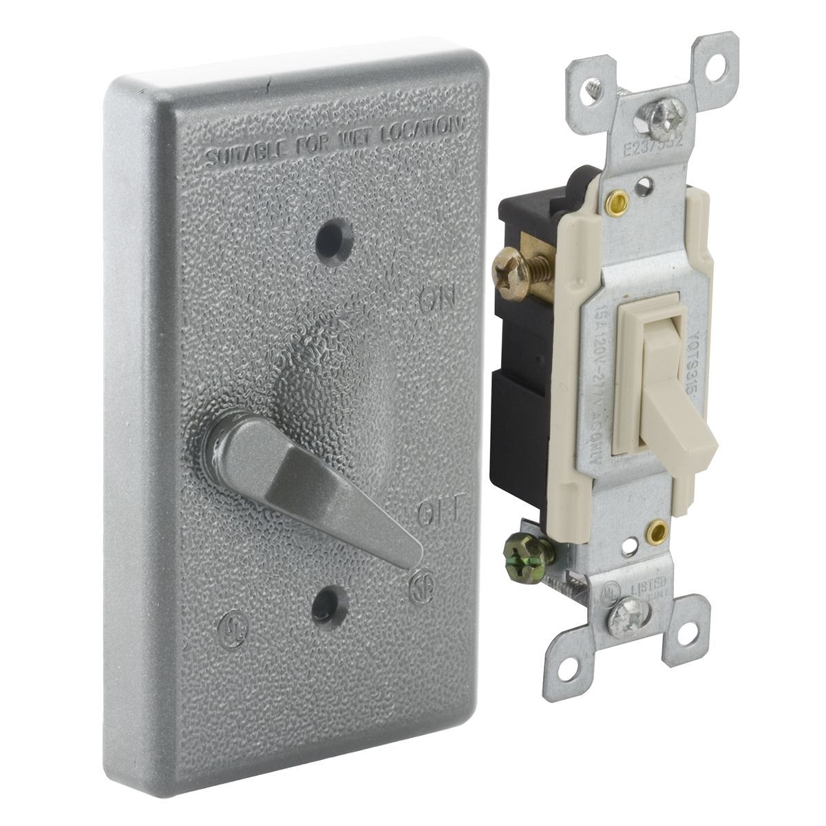 5 Switch Outlet Cover Raco 51415 3 Way Single Gang Vertical Mounted Switch Cover