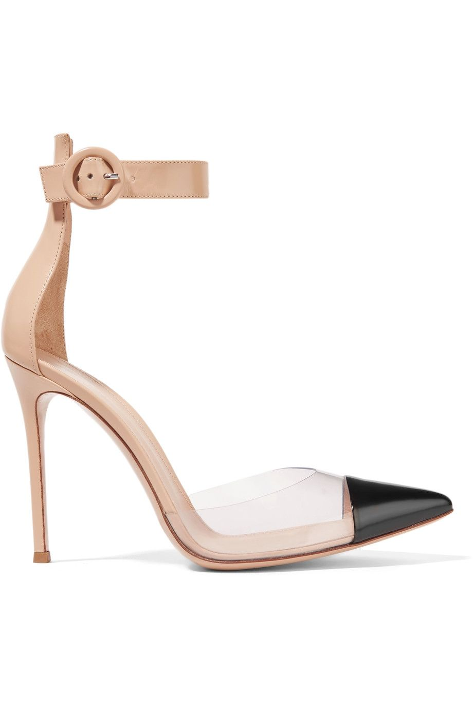 cb5ef6ae9 GIANVITO ROSSI Color-Block Leather And Pvc Pumps. #gianvitorossi #shoes  #pumps