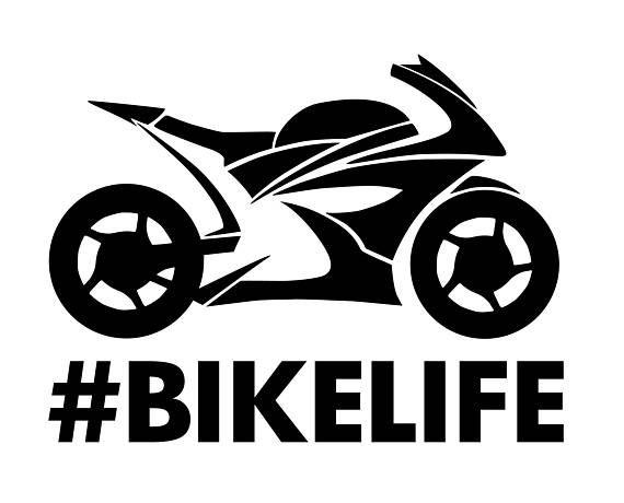Bike Life Motorcycle Vinyl Decal Car Decal Wall Decal Laptop - Vinyl decals car wash