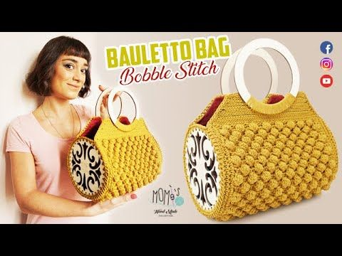 Photo of BORSA ALL'UNCINETTO – BAULETTO BAG – BOBBLE STITCH – CROCHET BAG