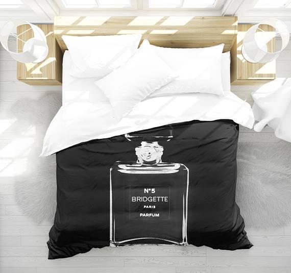 Personalized Girls Bedding, Girls Bedroom Decor, Teen Room Decor, Fashion  Bedding, Duvet