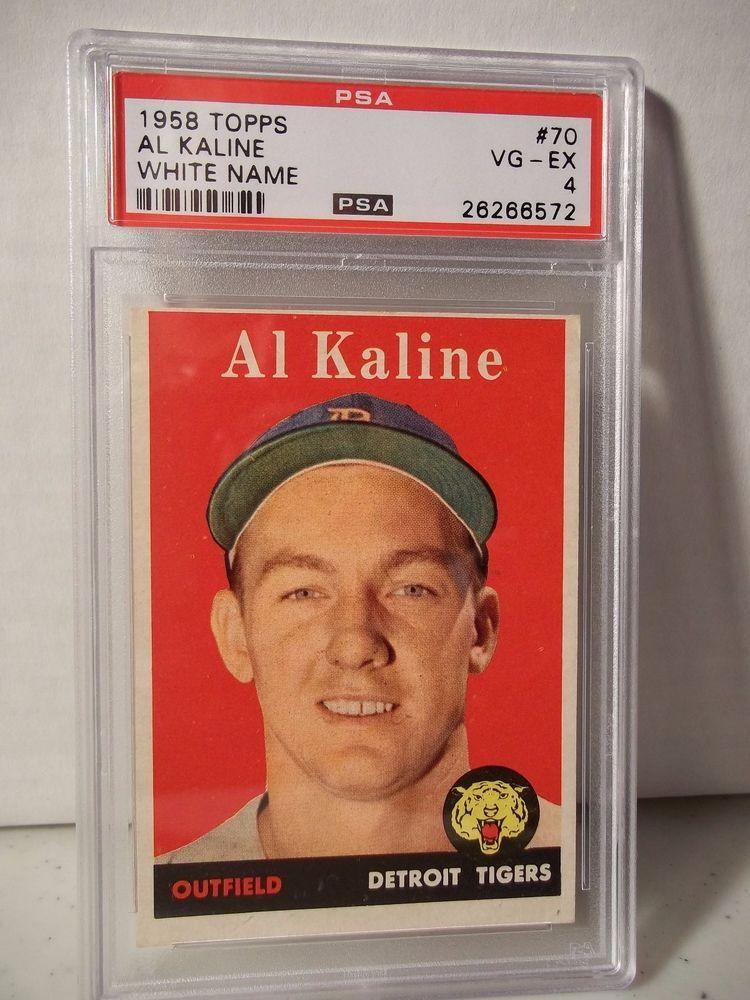 1958 Topps Al Kaline PSA VGEX 4 Baseball Card 70 MLB