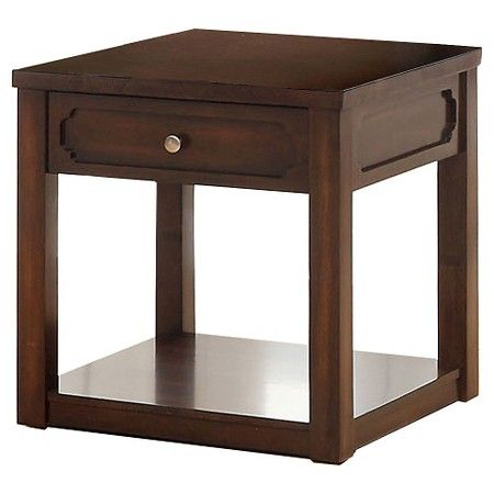 Rina Transitional End Table Brown Cherry   Furniture Of America : Target