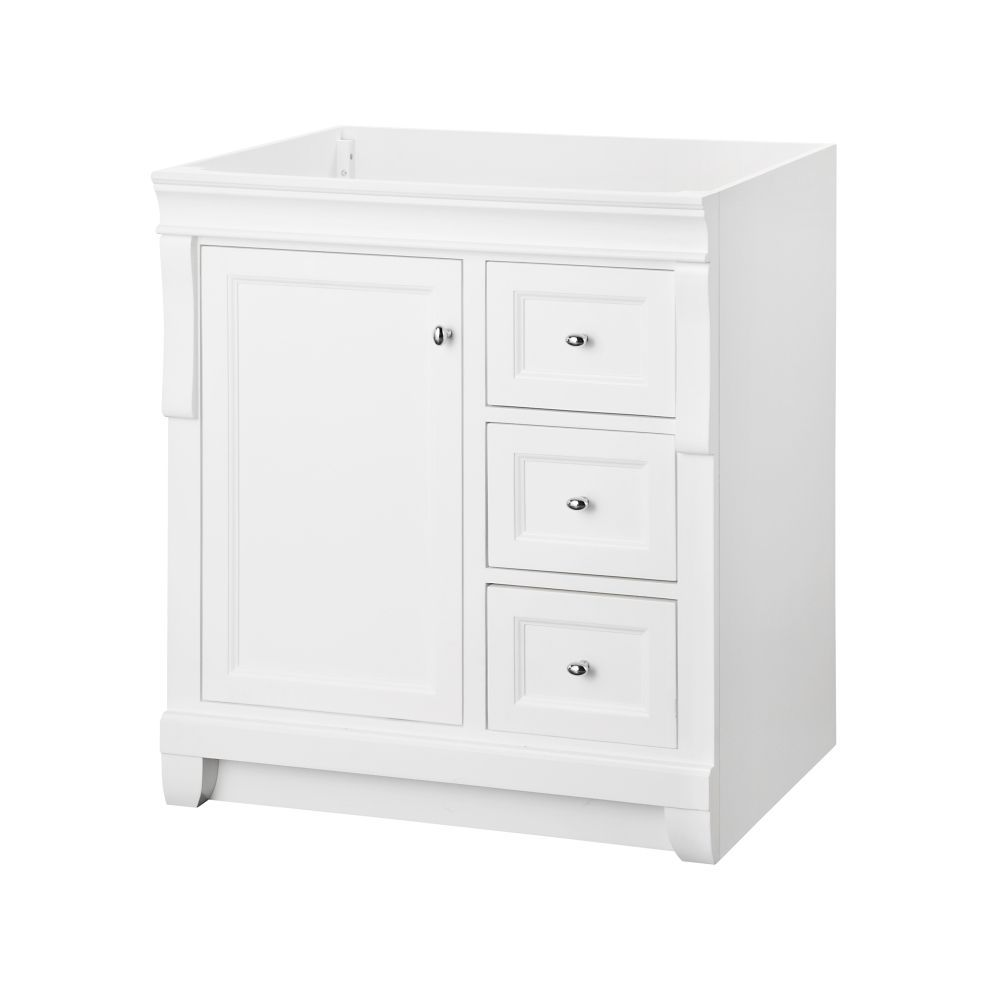Great Quality Top Not Included Naples White 30 Inch Vanity