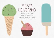 Invitación fiesta de verano helados