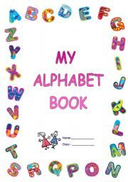 graphic relating to Alphabet Book Printable identify alphabet guide protect printable alphabet e book go over a wonderful