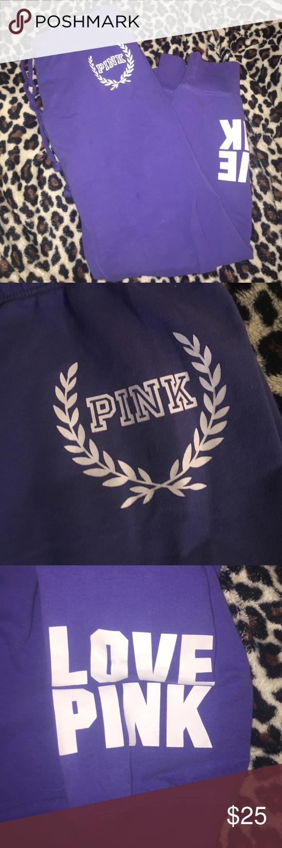 PINK joggers comfy purple PINK joggers PINK Victoria's Secret Pants Track Pants & Joggers