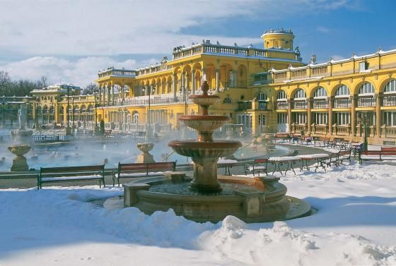 szchenyi thermal bath during winter i was there in the summer though
