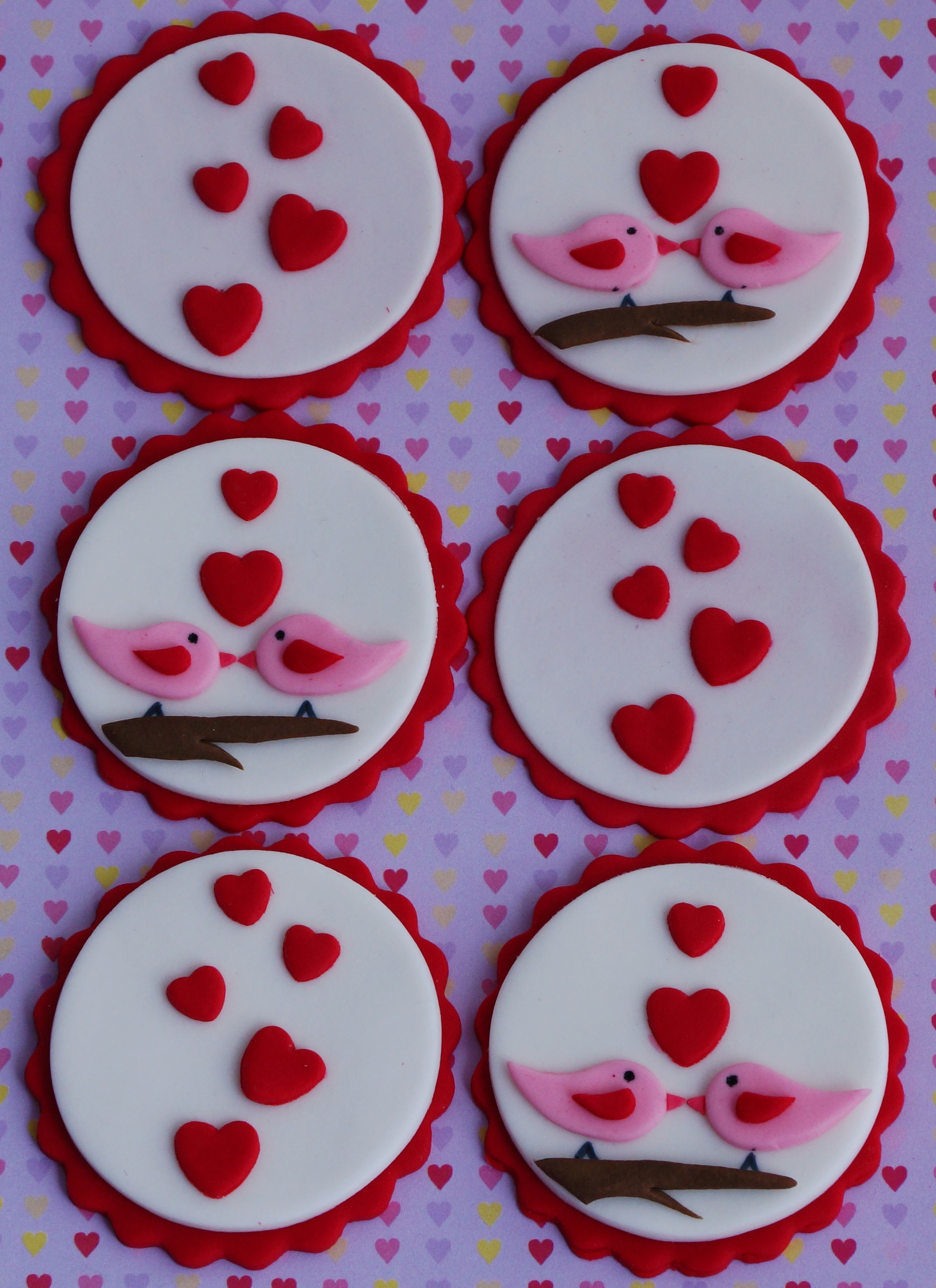 Valentines cupcake toppers