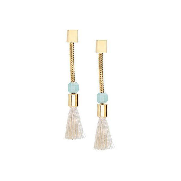 Straw Tassel Earrings Drops Earrings (13.100 RUB) ❤ liked on Polyvore featuring jewelry, earrings, beaded tassel earrings, drop earrings, beading jewelry, fringe earrings and beaded jewelry