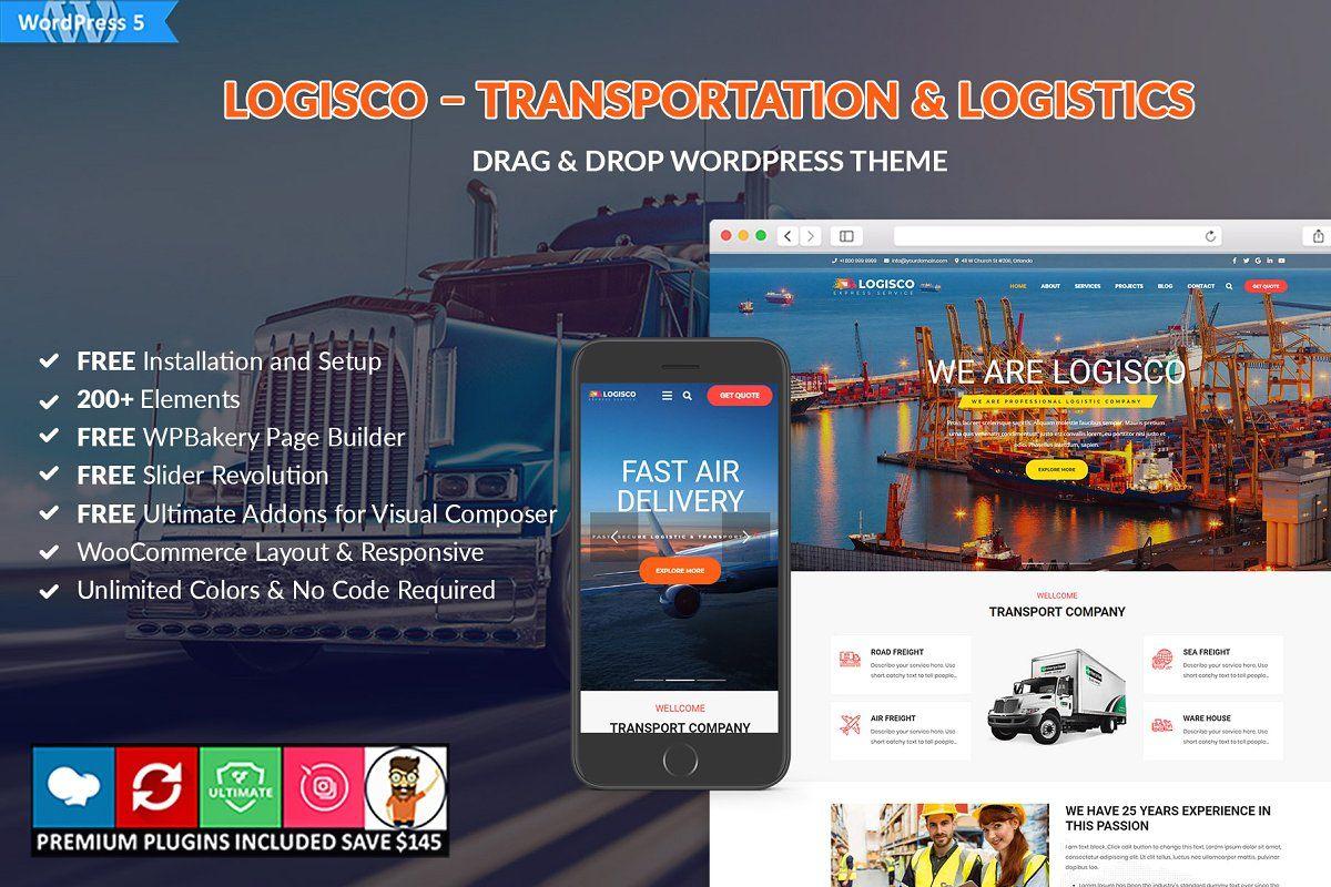Logisco transportation logistics advanced typography