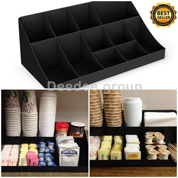 Organizer Condiment Coffee Cup Tea Holder Office Breakroom Dispenser ...