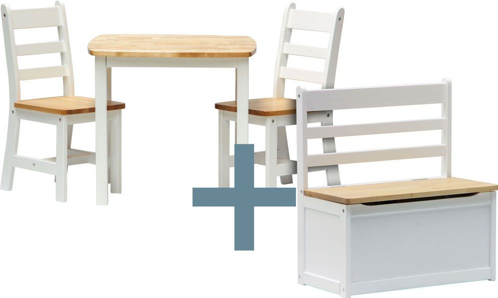 Tisch mit Stühlen und Truhenbank - ILEX - Kindermöbel ...