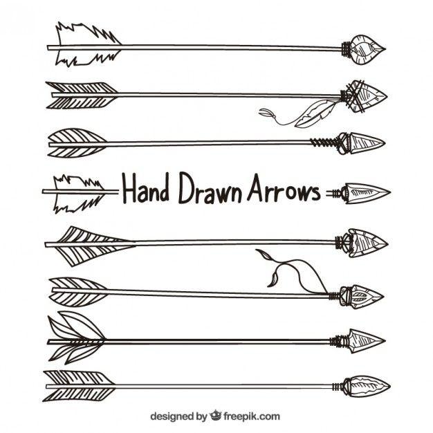 Dessin De Fleche flèches dessinés à la main | arrow | pinterest | fleche dessin