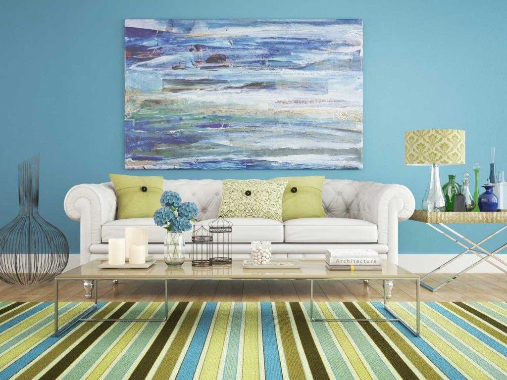 Decora O Sala Azul E Verde Salas Pinterest Art Reference  -> Decoracao De Sala Azul