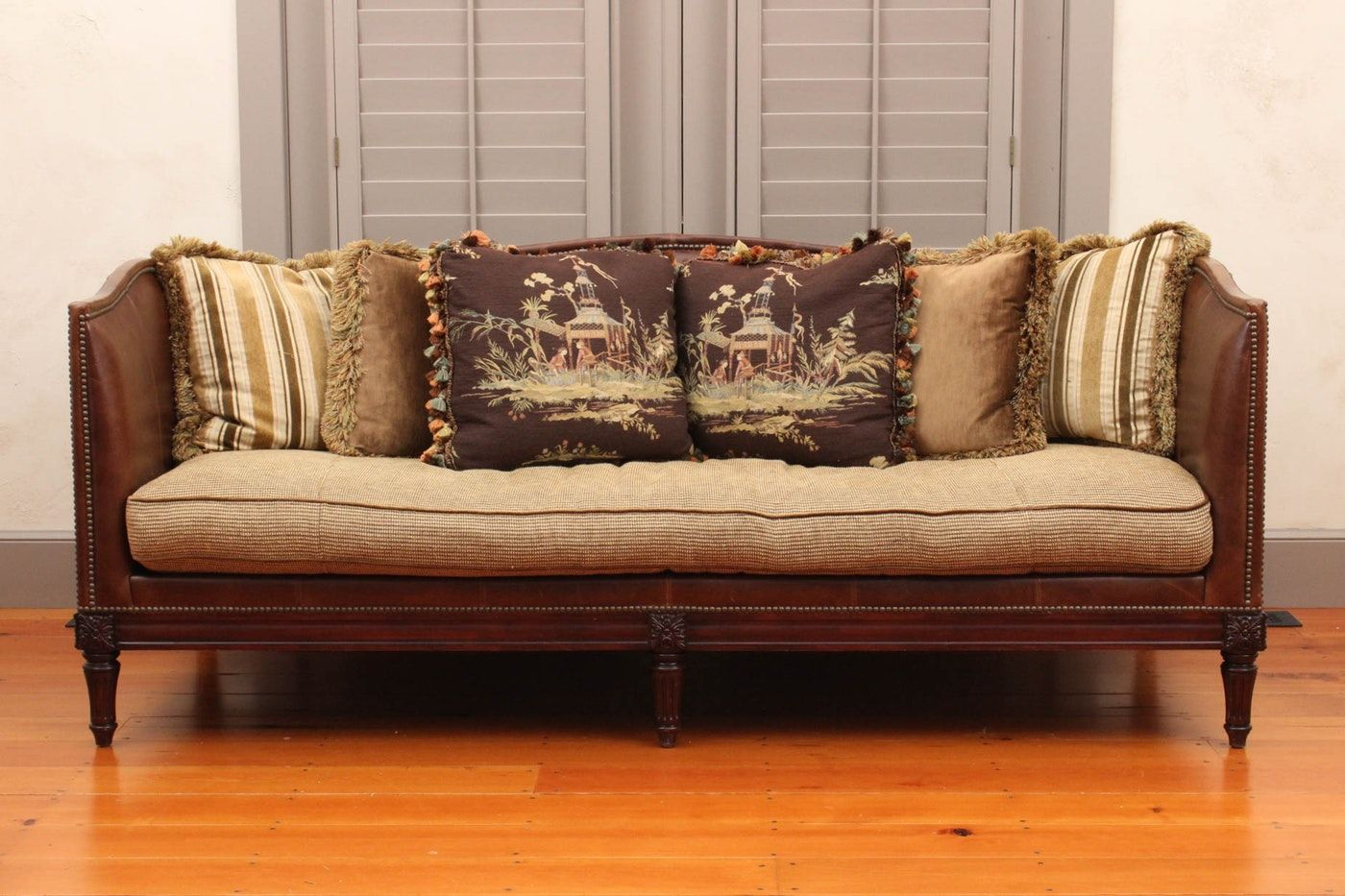 Leather Tuxedo Belvedere Sofa By Lillian August Furniture