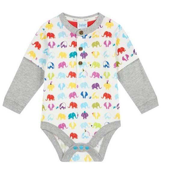 3f2aa572c09769 Ted Baker Baby Boys Romper Bodysuit Elephant Designer Newborn Gift 0-3  Months
